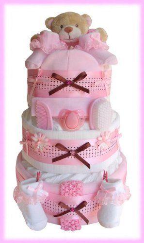 Cesta Bebe Amazon.Cesta De Bebe Rosa Osito Baby Shower Ideas Baby Nappy