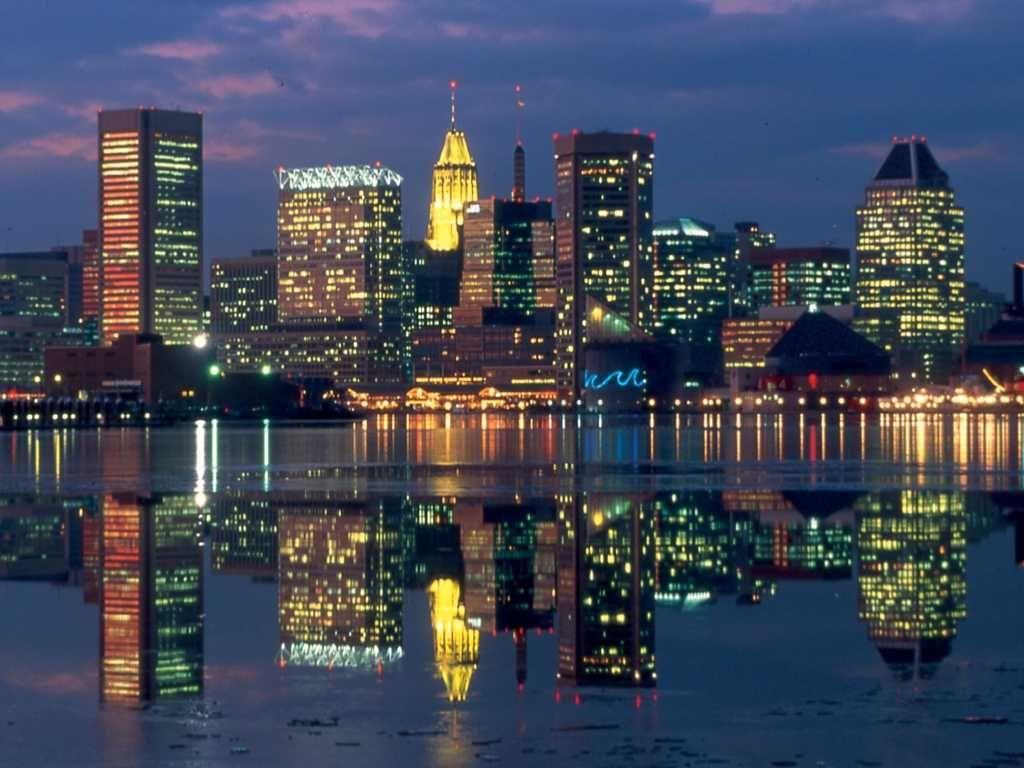 Baltimore Md Inner Harbor Skyline