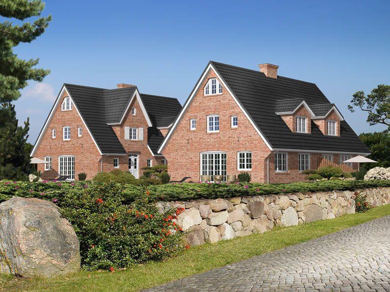 Fassade Klinker Rot Sprossenfenster Sylt Hauser Fassade
