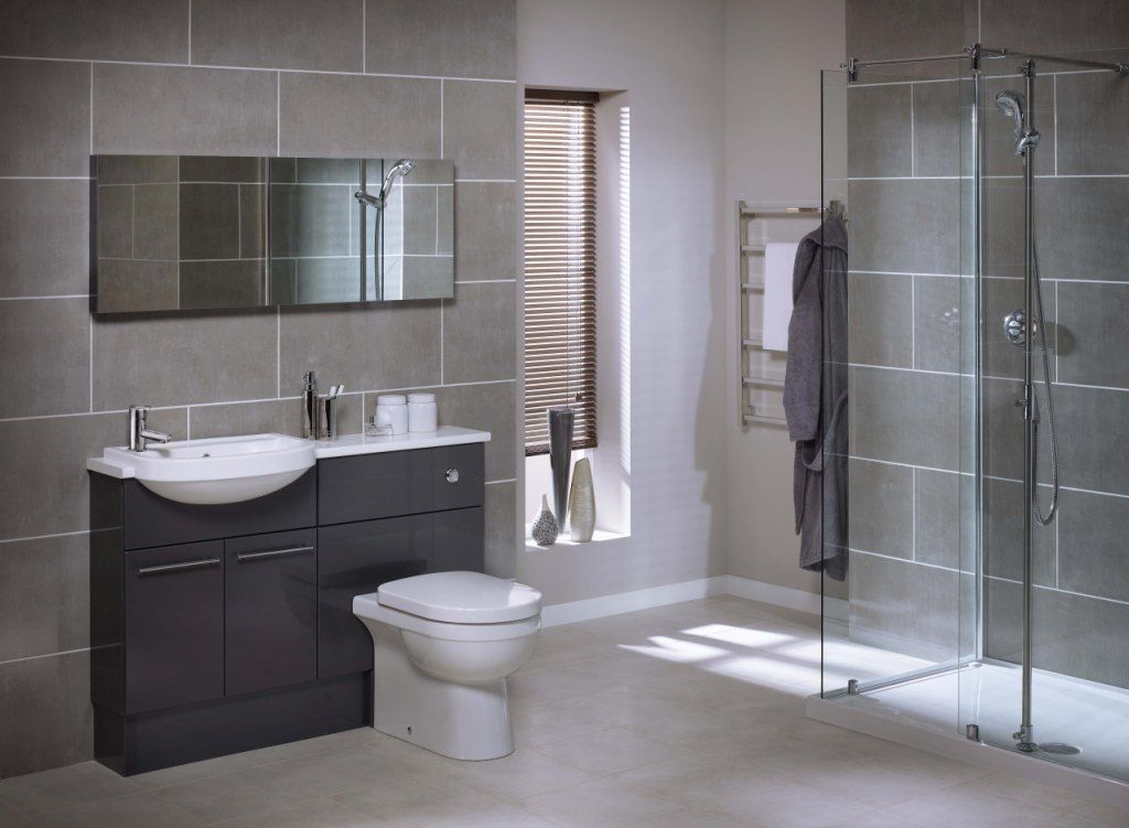 The bathroom in this grey bathroom ideas uk looks outstanding light grey bathrooms aloadofball