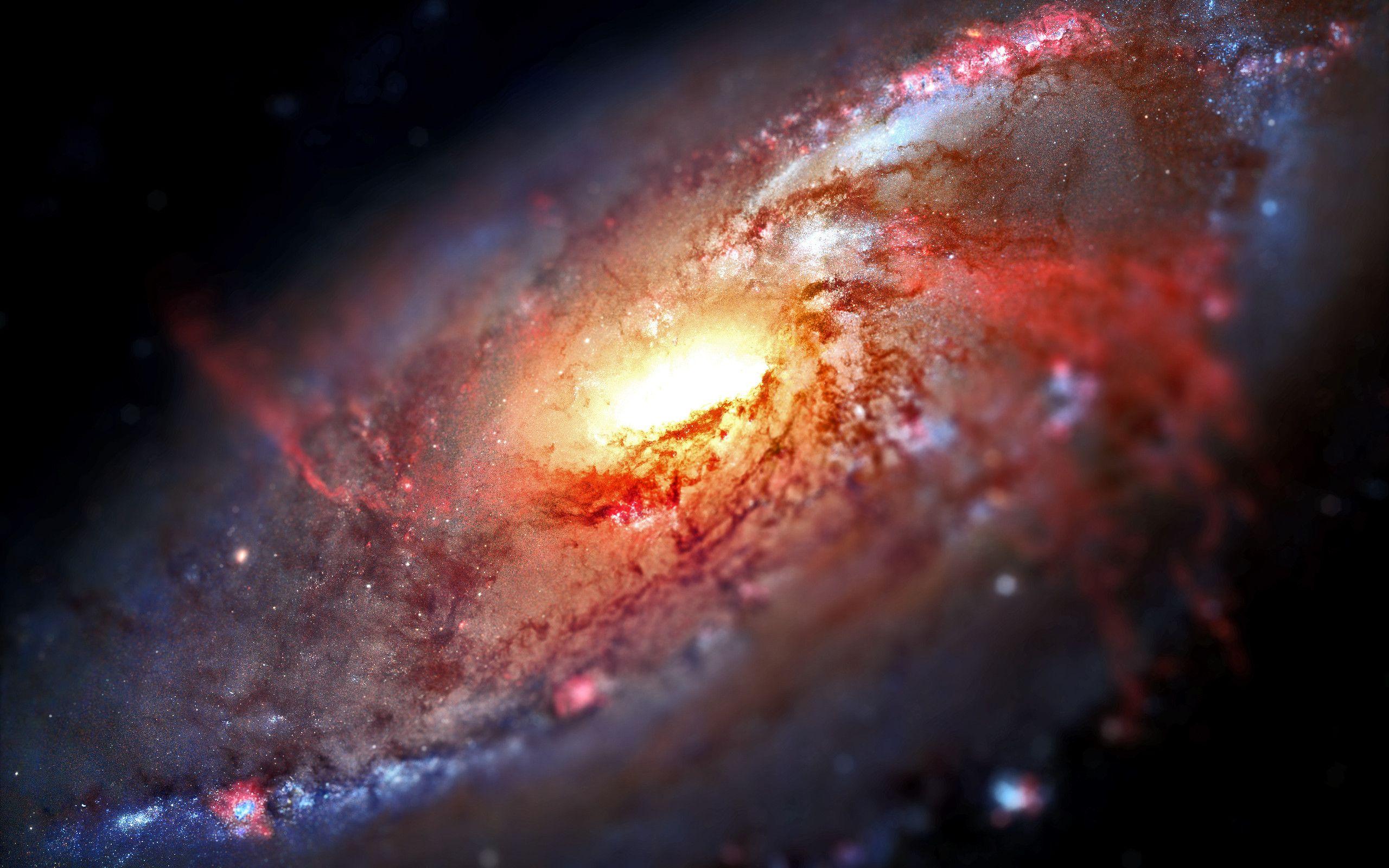 Clear HD. 2560 x 1600. Tiltshifted M106. Telescopio