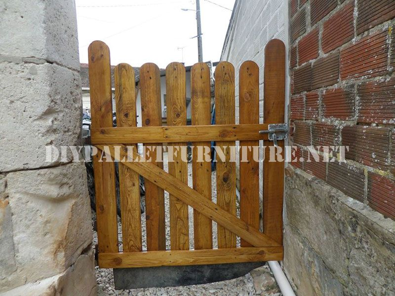 Como hacer una puerta de jardin con palets buscar con for Puerta palets