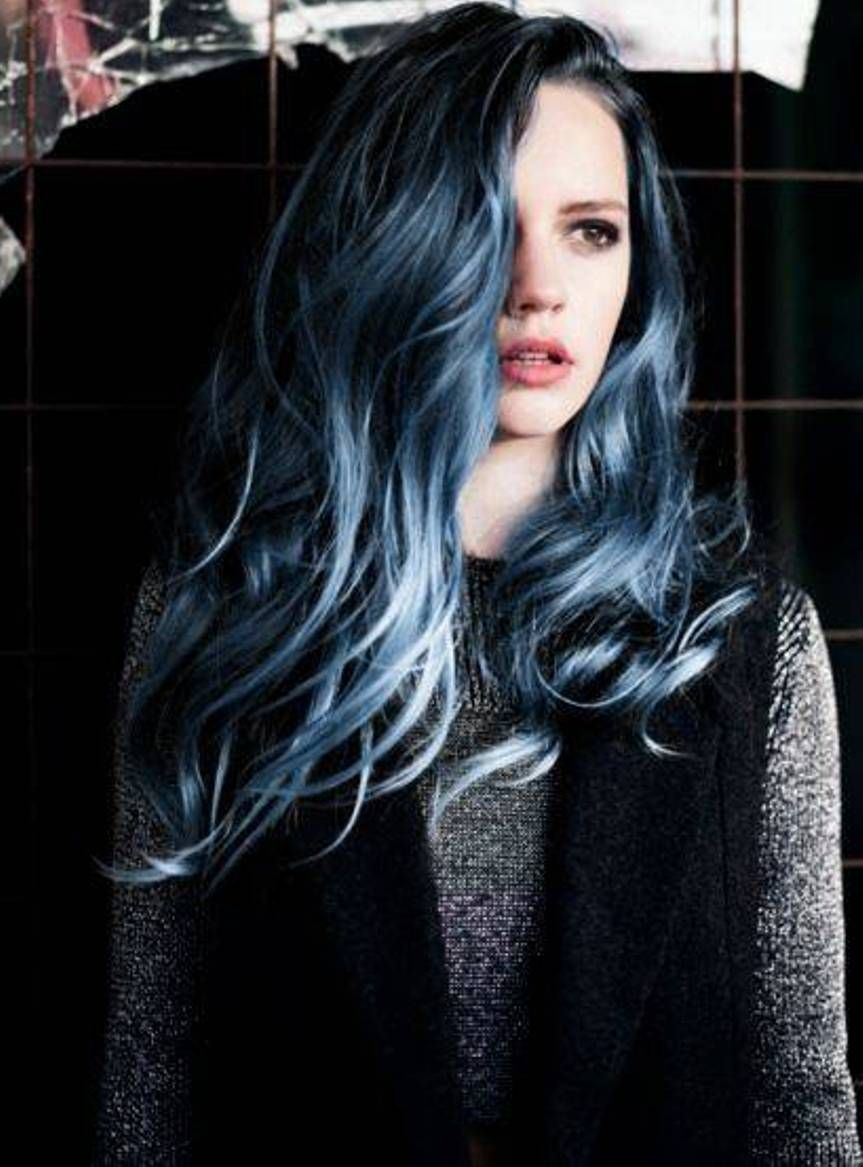33 Cool Blue Hair Ideas That Youl Want To Get Black Hair Dye Cool Hair Color Hair Dye Brands