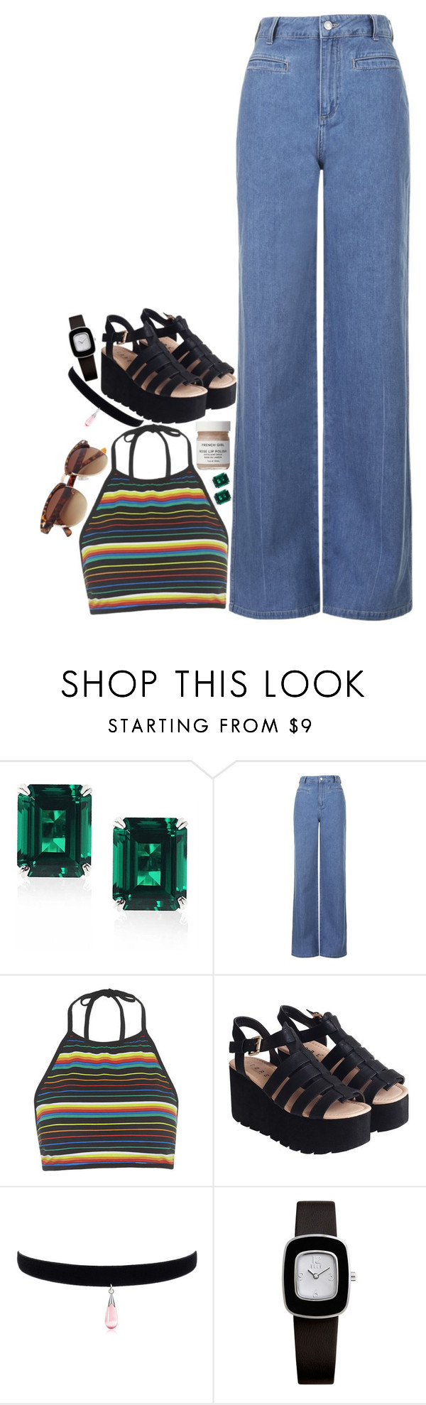 """Sem título #3476"" by brigadeirodalovato on Polyvore featuring moda, CARAT* London, Topshop, Motel, French Girl e BillyTheTree"