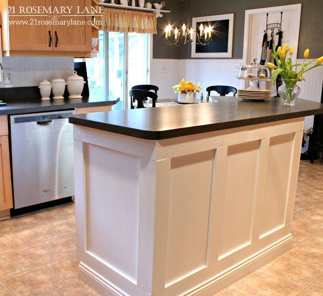 Board Batten Kitchen Island Makeover 21 Rosemary Lane Tutorials Kitchens And Create