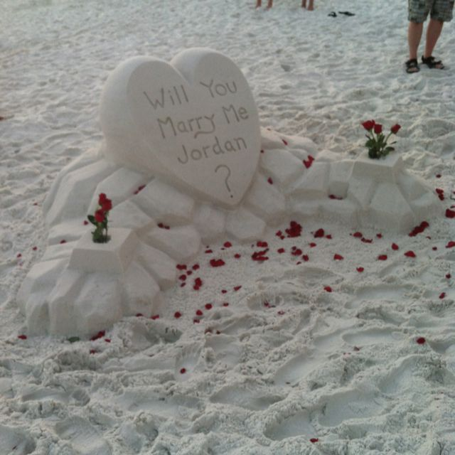 Cute Proposal At The Beach Proposal Marriage Wedding Creative