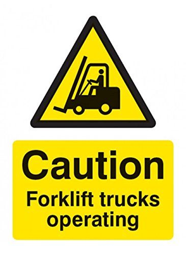 Cheap Caledonia Signs 14215k Caution Forklift Truck Operating Sign 400 Mm X 300 Mm Rigid Plastic Deals Week Forklift Sign Materials Traffic Signage