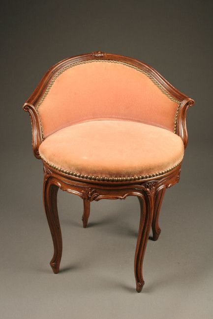 Tremendous Louis Xv Style Vanity Stool With Swivel Base Vanity Stool Dailytribune Chair Design For Home Dailytribuneorg