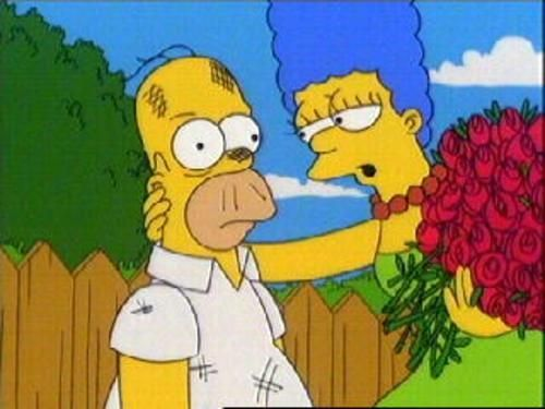 100 Homer And Marge Tumblr Homer And Marge Simpsons Cartoon Simpsons Funny