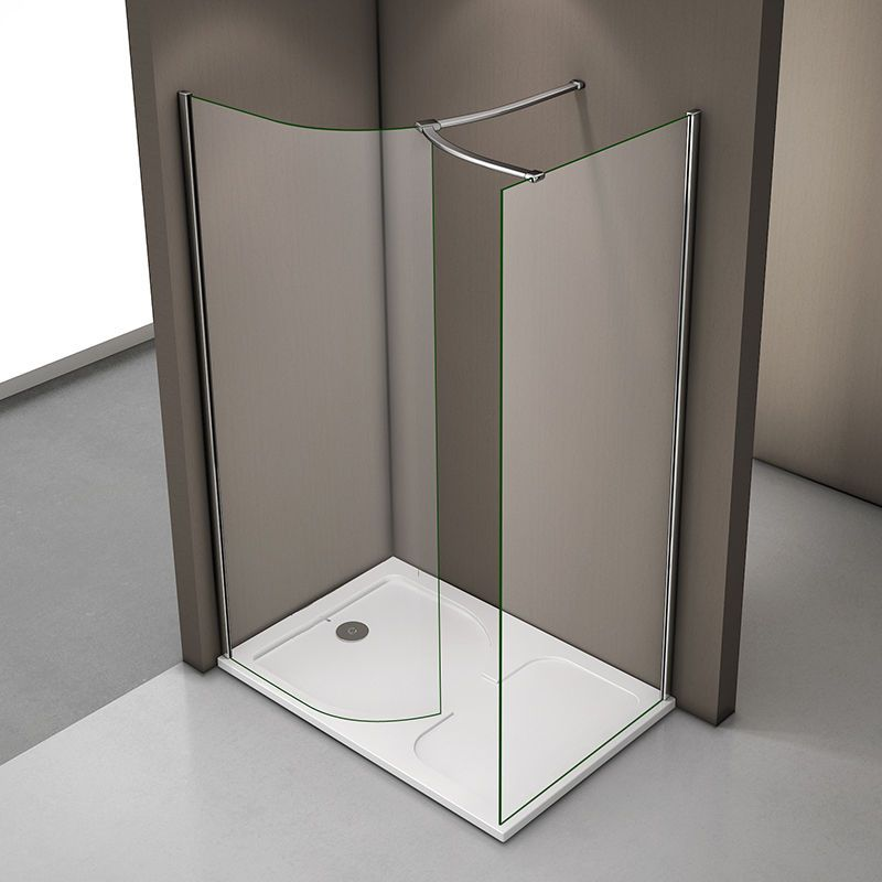 Details About Aica Luxury Walk In Shower Enclosure Tray Curved