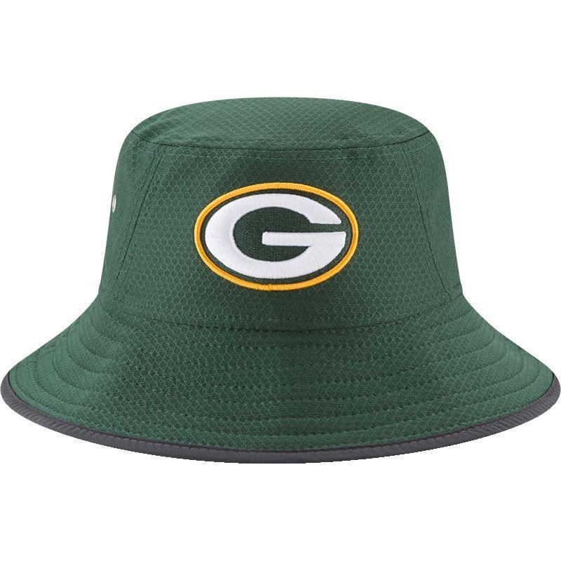 d99ff4cb6eac7 New Era Men s Green Bay 2017 Training Camp Green Bucket Hat