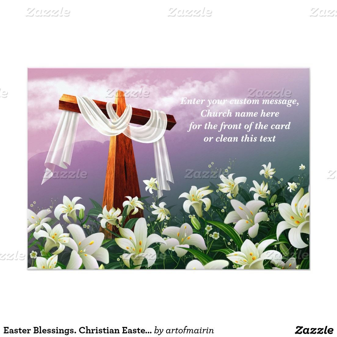 Easter Blessings Personalized Religious Christian Flat Easter