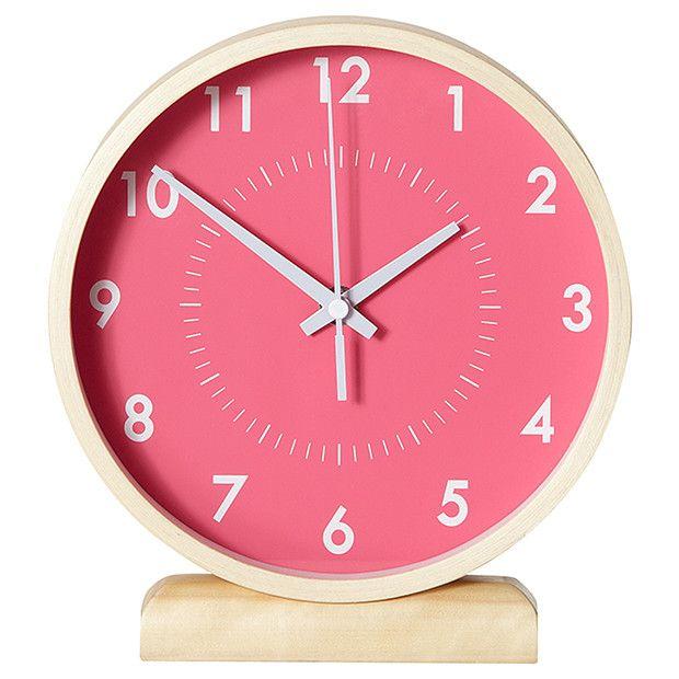 place on ladder storage table clock pink target australia