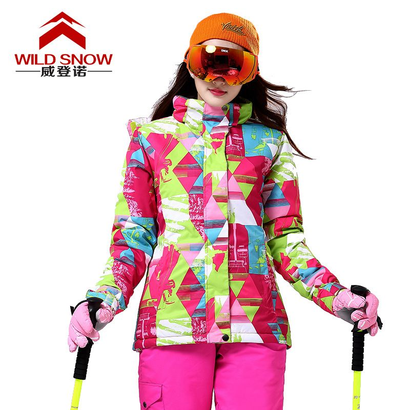 2017 Brand Women Snow Ski Suit Windproof Waterproof Breathable Women s  Snowboard Colorful Clothes Winter Jacket Hiking clothes 59fe99d2e