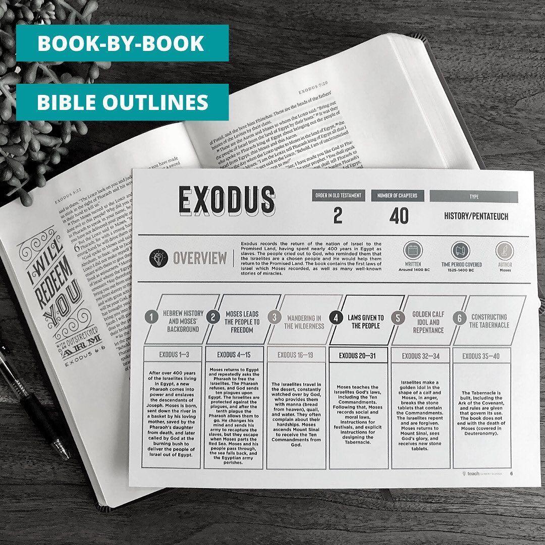 Teach Sunday School On Instagram Book By Book Bible