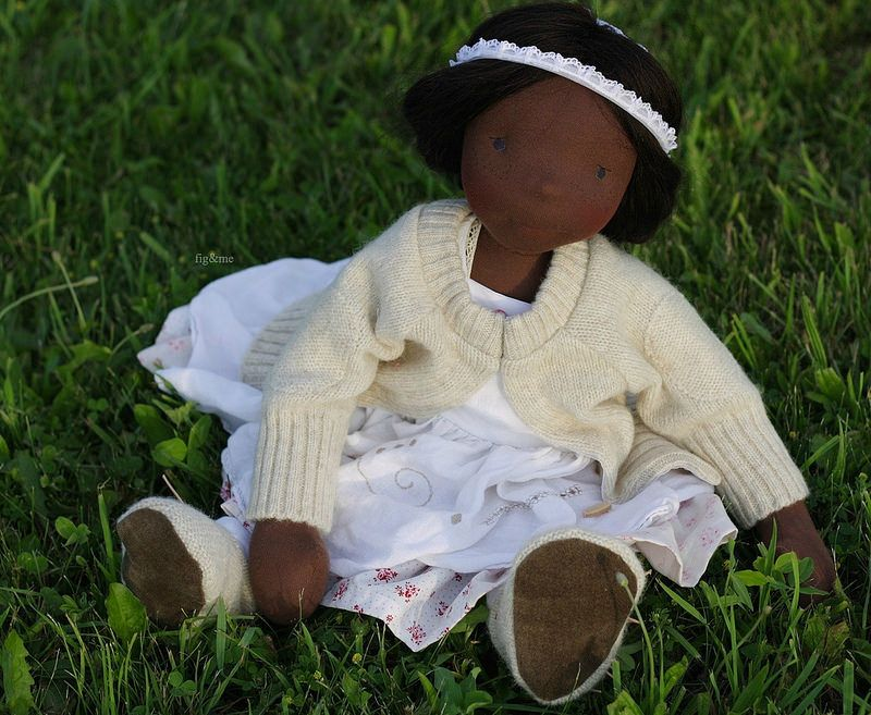 """Hettie Gray, a 23"""" natural doll by Fig and Me :: Figandme Online Shop"""