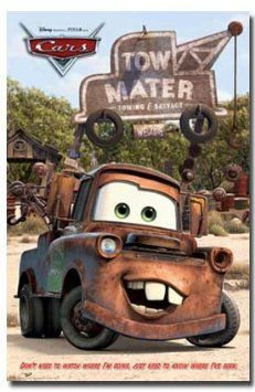 Amazon Com Disney Cars Movie Poster Mater Rare Hot New 24x36