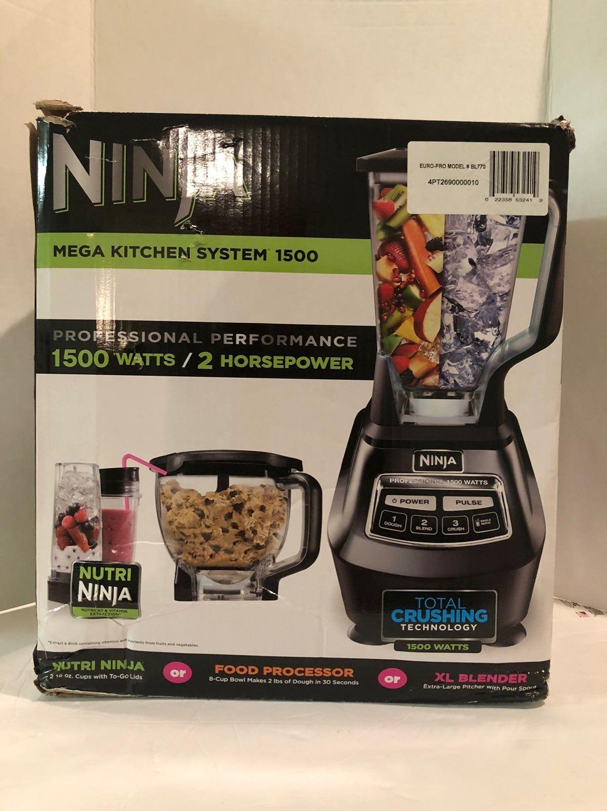 Ninja Mega Kitchen System Bl770 Blender Food Processor With 1500w Auto Iq Base 72oz Pitch Food Processor Recipes Blender Food Processor Ninja Food Processor