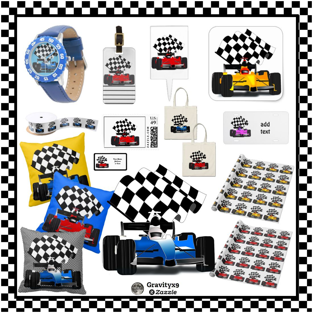 Zazzle Collection Sports4you Race Car Collection Vroom Vroom