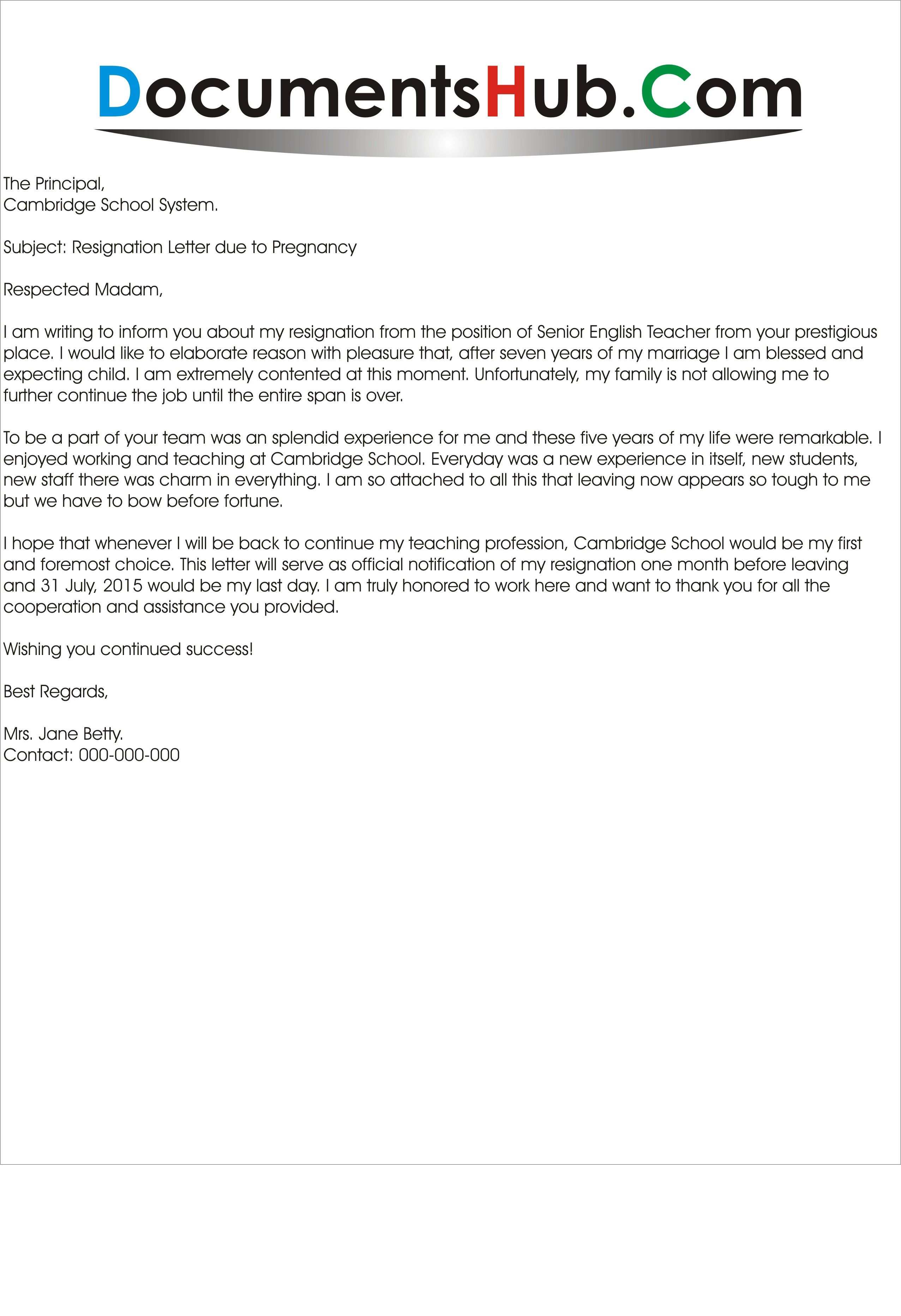 Maternity Leave Request Letter Maternity Leave Application