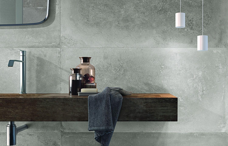Betonlook tegels badkamer - badkamer | Pinterest - Tegels, Badkamer ...