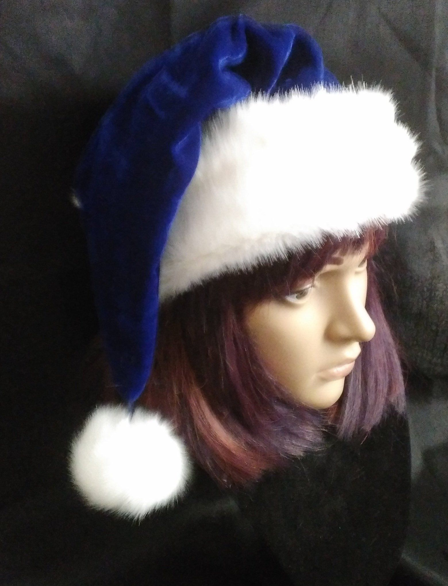 29e8221f741df Excited to share the latest addition to my  etsy shop  Blue Velvet Santa hat