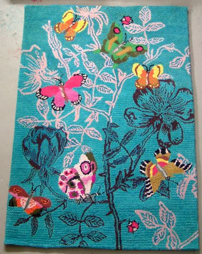nathalie l t 39 s rug le rosier aux papillons rugs pinterest. Black Bedroom Furniture Sets. Home Design Ideas