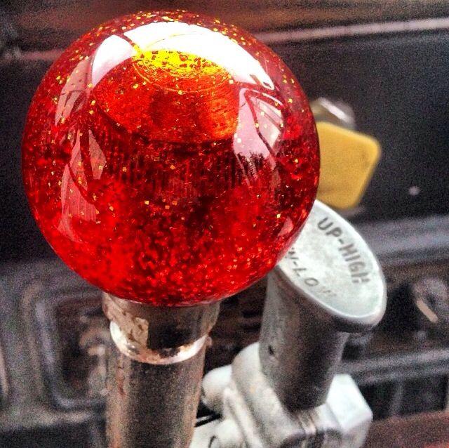 Semi Gear Shift Knobs : Old school truck sparkly gear shift knob keep on