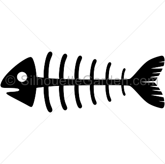 fish skeleton silhouette clip art download free versions of the rh pinterest com  fish skeleton clip art free