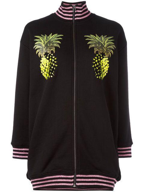 2c6dcb7e1451d Shop Giamba pineapple print bomber jacket.