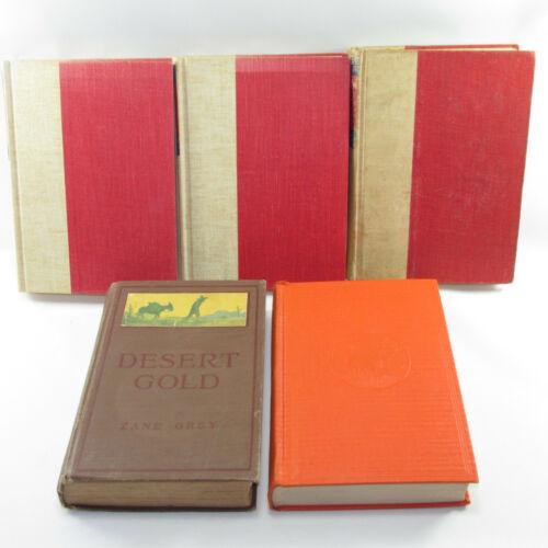 Details about 5 Zane Grey Hardcover Books Walter J Black