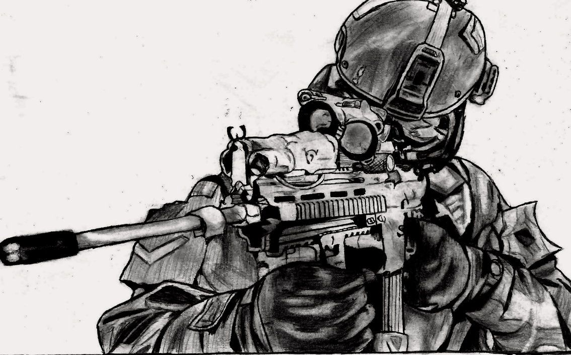 Image Result For Pencil Drawing Of A Sniper Cool