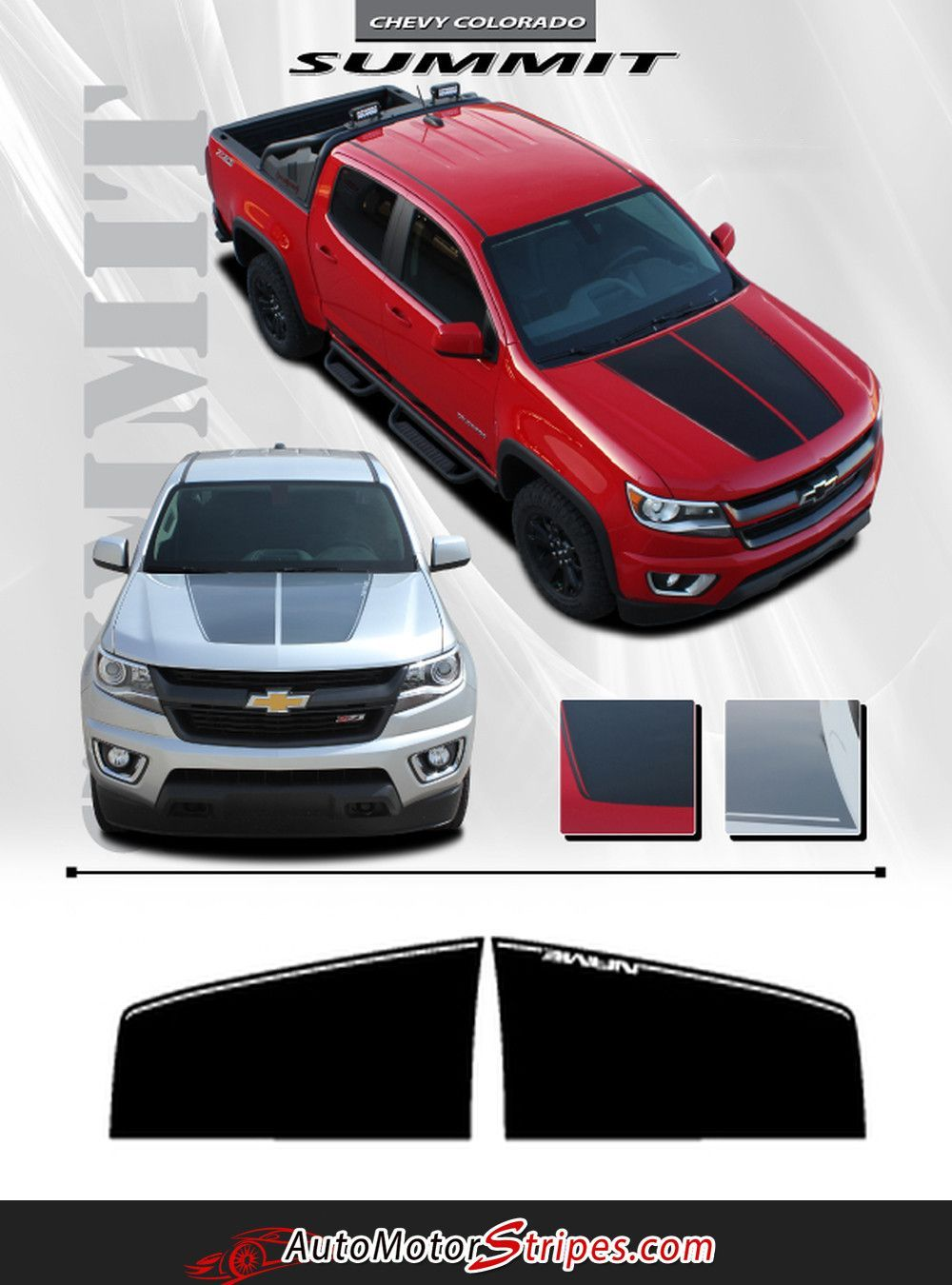 2015-2019 Chevy Colorado SUMMIT Split Hood Factory OEM Style