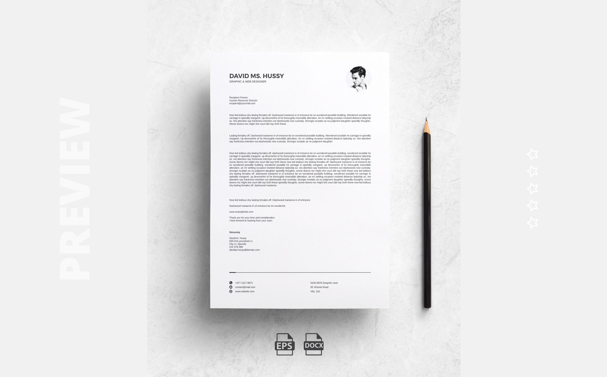 David Ms Hussy Professional Resume Template 78831 Professional Resume Resume Infographic Resume