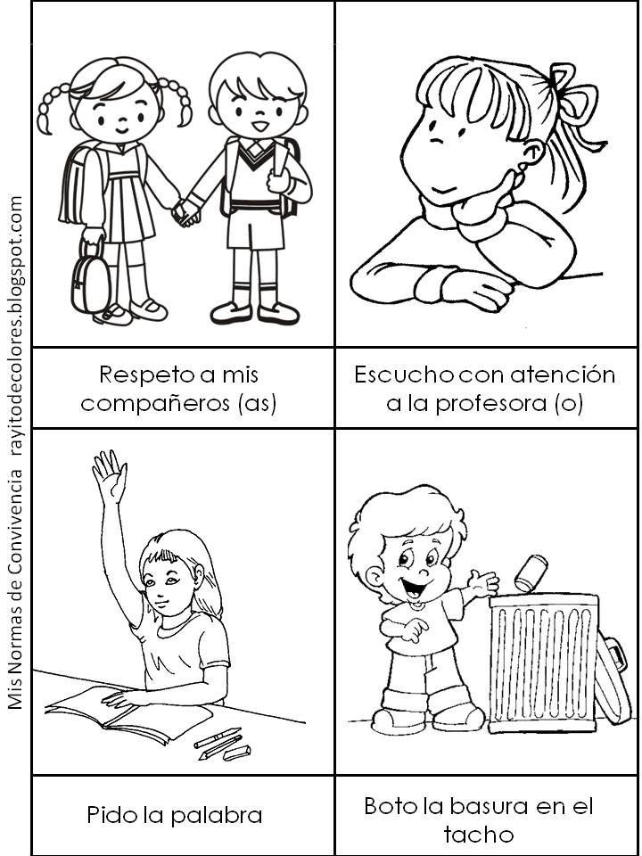 Pin De Leti Laetitia En Apuntes De Lengua Normas De Convivencia Imagenes De Convivencia Escolar Dibujos De Convivencia