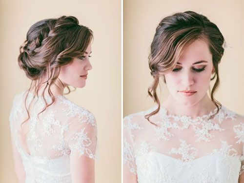 Loose Braided Updo Diy Via Green Wedding Shoes