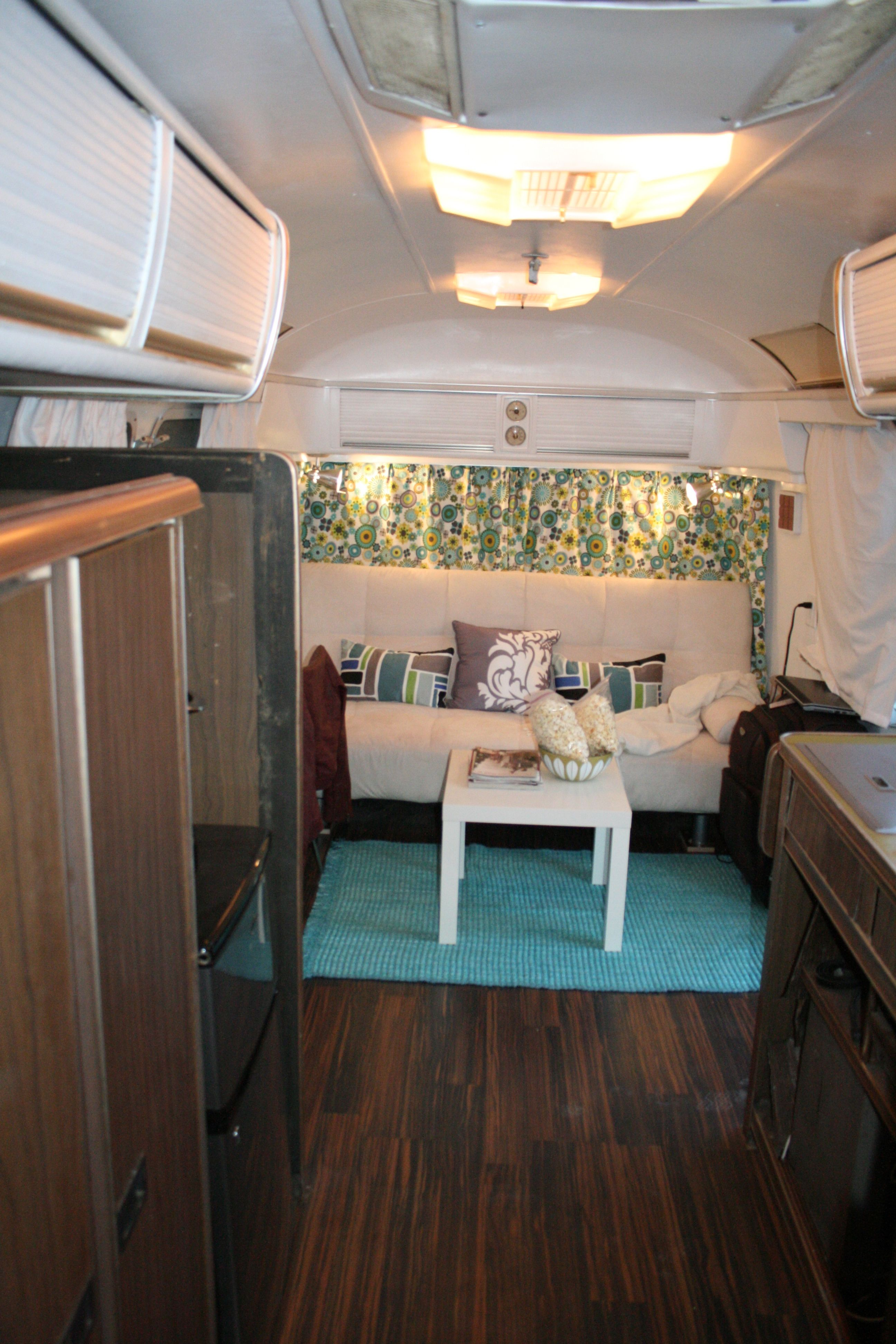Camper window treatments - Airstream Campers Remodel Airstreamy Our Journey With A 31 1974 Airstream Sovereign