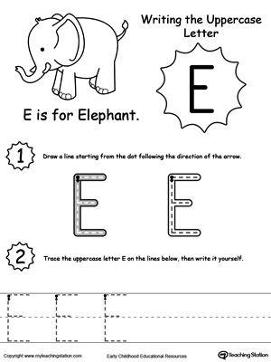 Writing Uppercase Letter E Letter E Worksheets Preschool Letters Letter Worksheets For Preschool Free preschool worksheets letter e