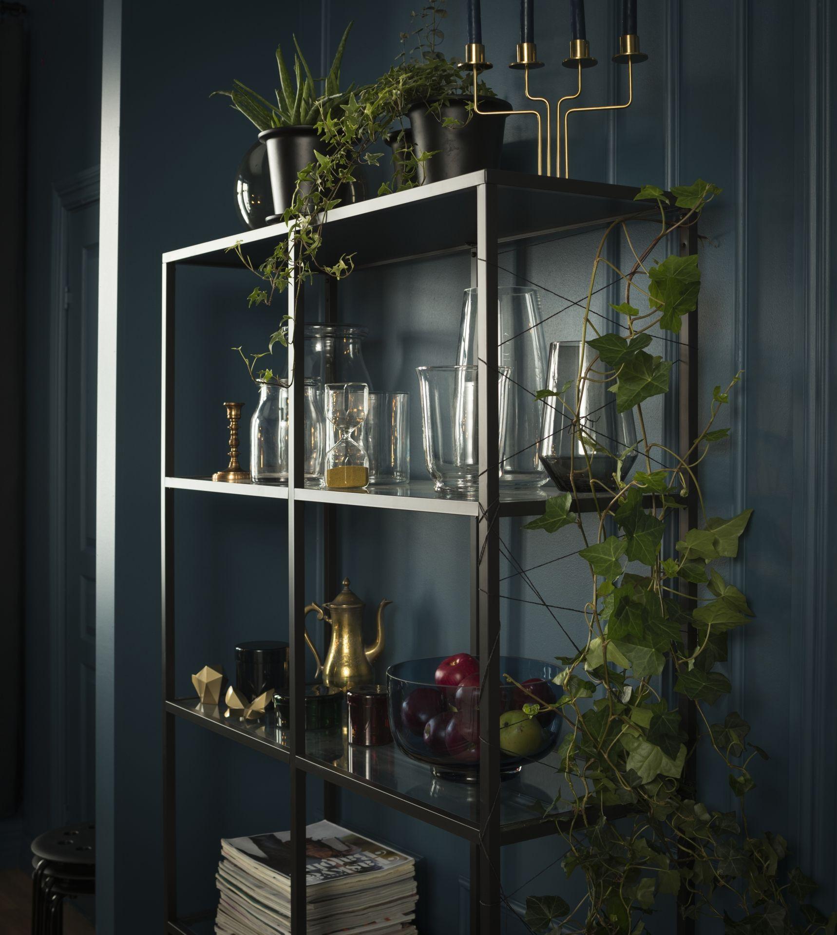 Vittsjö Stellingkast Zwartbruin Glas Wishlist Ikea