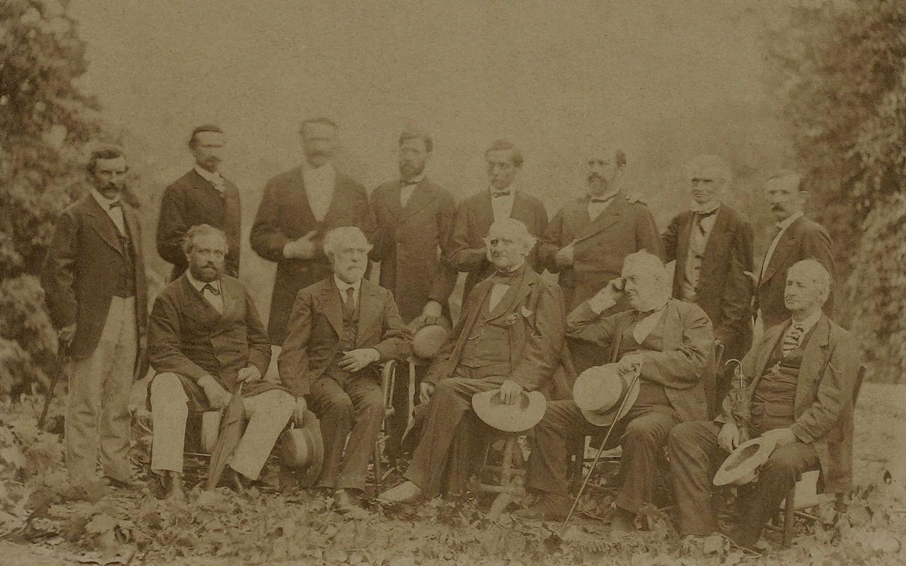 General Robert E Lee His Generals Rare PHOTO Rebel Confederate Civil War 1869