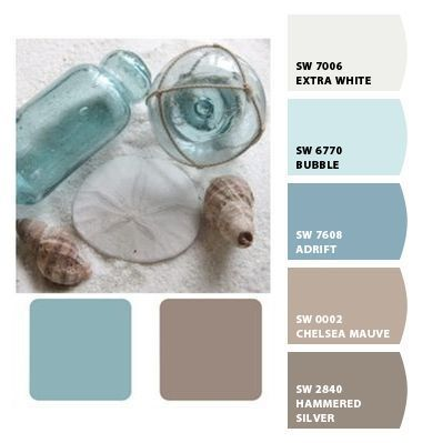 Warm muted blue water sand beach mink brown tan taupe for Warm cream paint colors