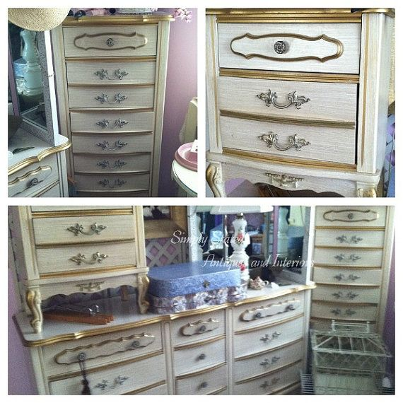 These Are The Same Vintage French Provincial Bedroom Pieces I Found At A Yard Last Week For My Grands Room Farm Love