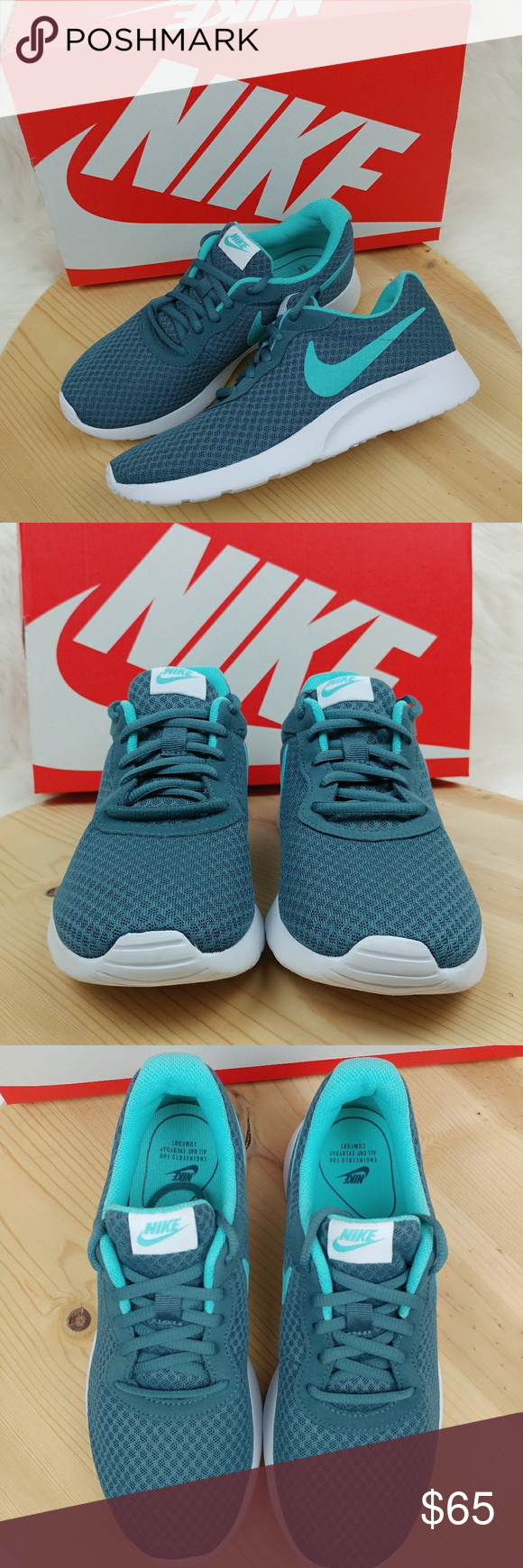 52eb9169498d Nike Tanjun Iced Jade Aurora Green-White sneakers New comes with box. Nike  Tanjun Iced Jade  Aurora Green-White Teal sneakers Womens size 8 25 cm Nike  Shoes ...