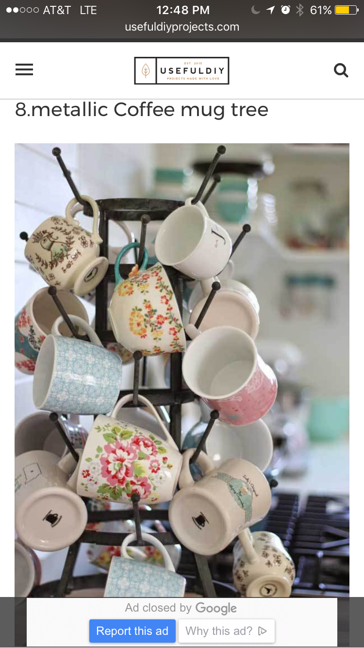 Pin By Ruth Bravo On Home Organized Life Coffee Mug Storage Mug Storage Mug Tree