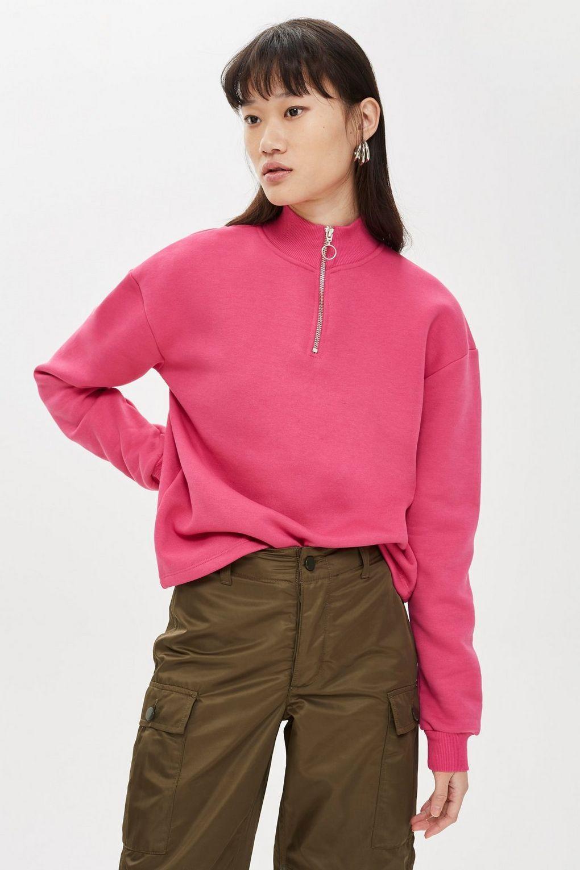 Sweatshirt Funnel Zip Clothing Topshop amp; Sweats Usa Hoodies 75fwqgA