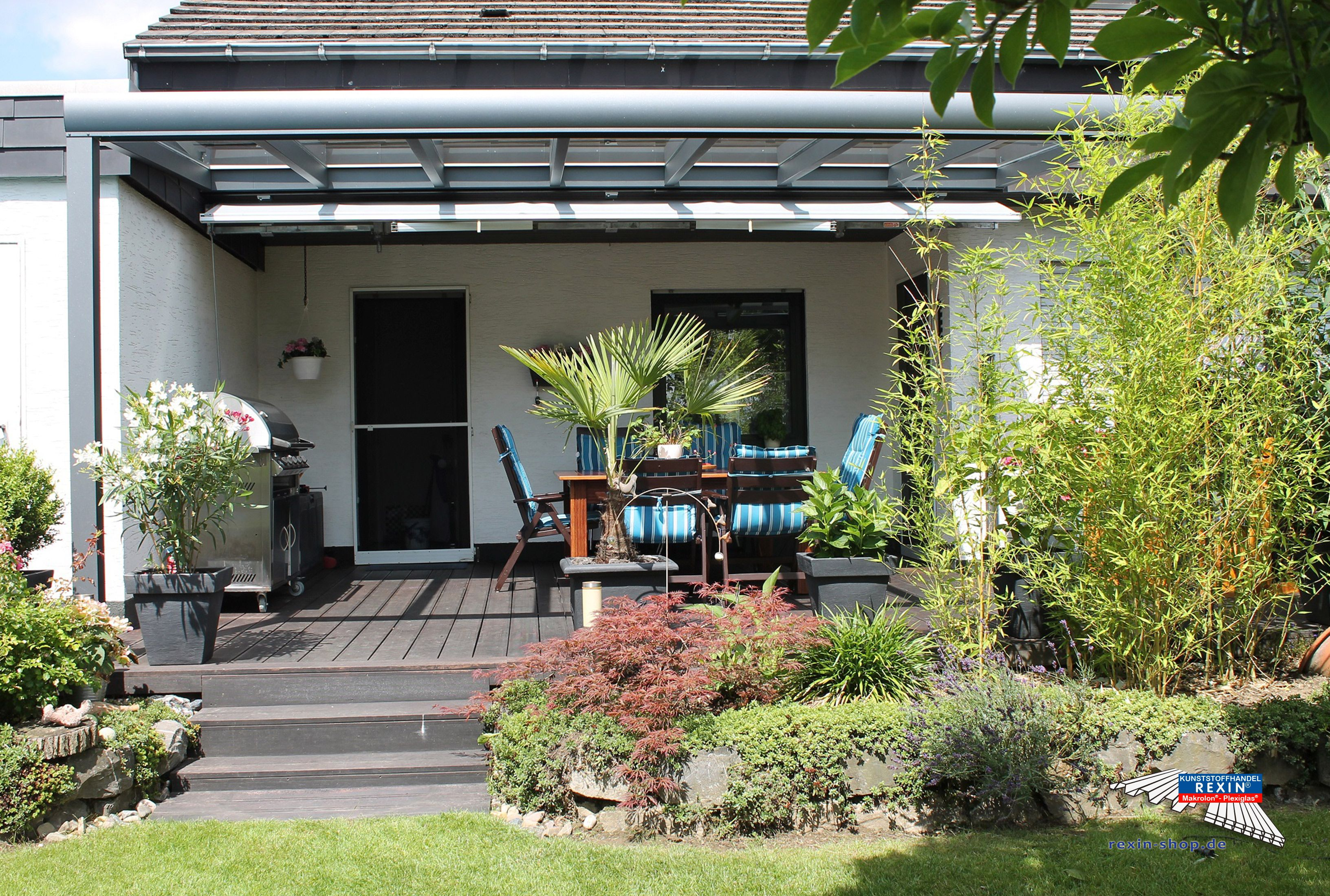 Terrassendach Aus Aluminium Mit Vsg Glas Kompl Neu ~ Alu terrassenüberdachung mm glas vsg terrassendach carport