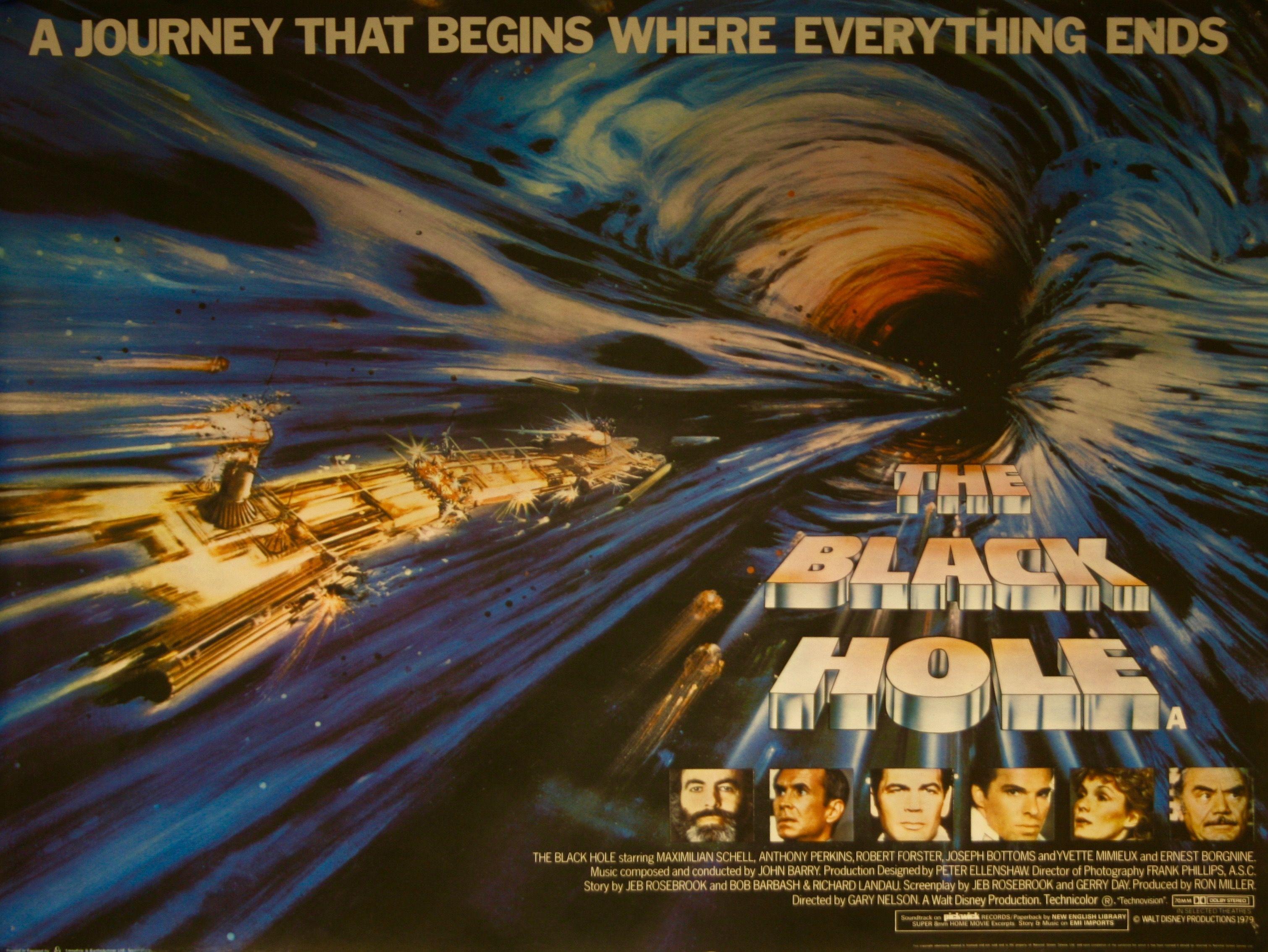 the black hole movie poster vintage