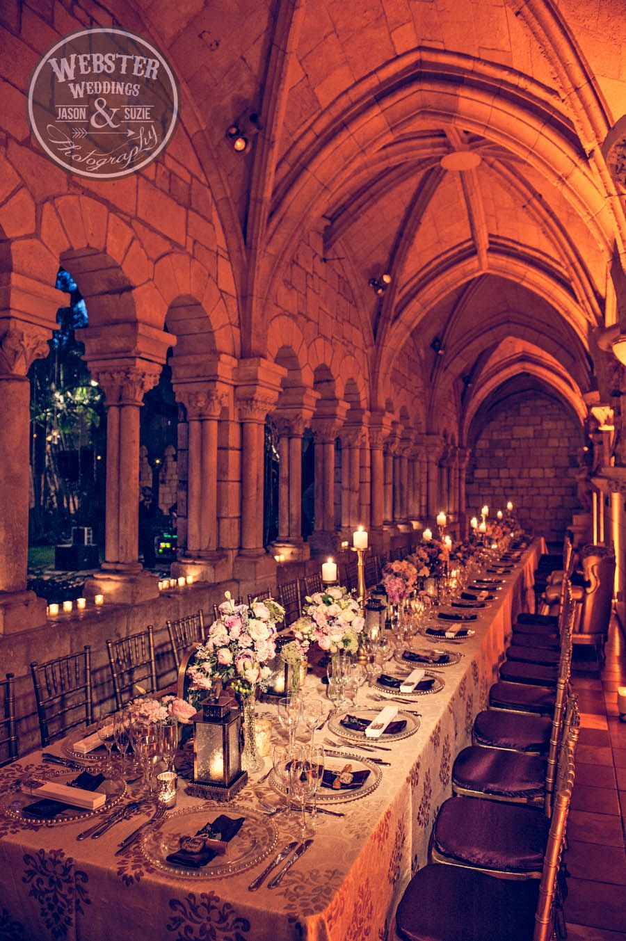 Spanish Monastery Florida Wedding Venue Pink Gown Castle Style South