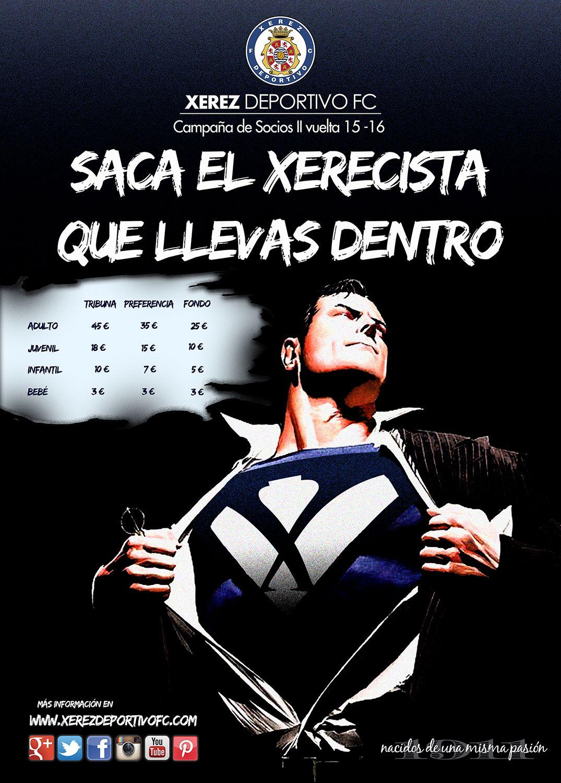 Campaña de Socios II vuelta Xerez Deportivo FC 'SACA EL XERECISTA QUE LLEVAS DENTRO'