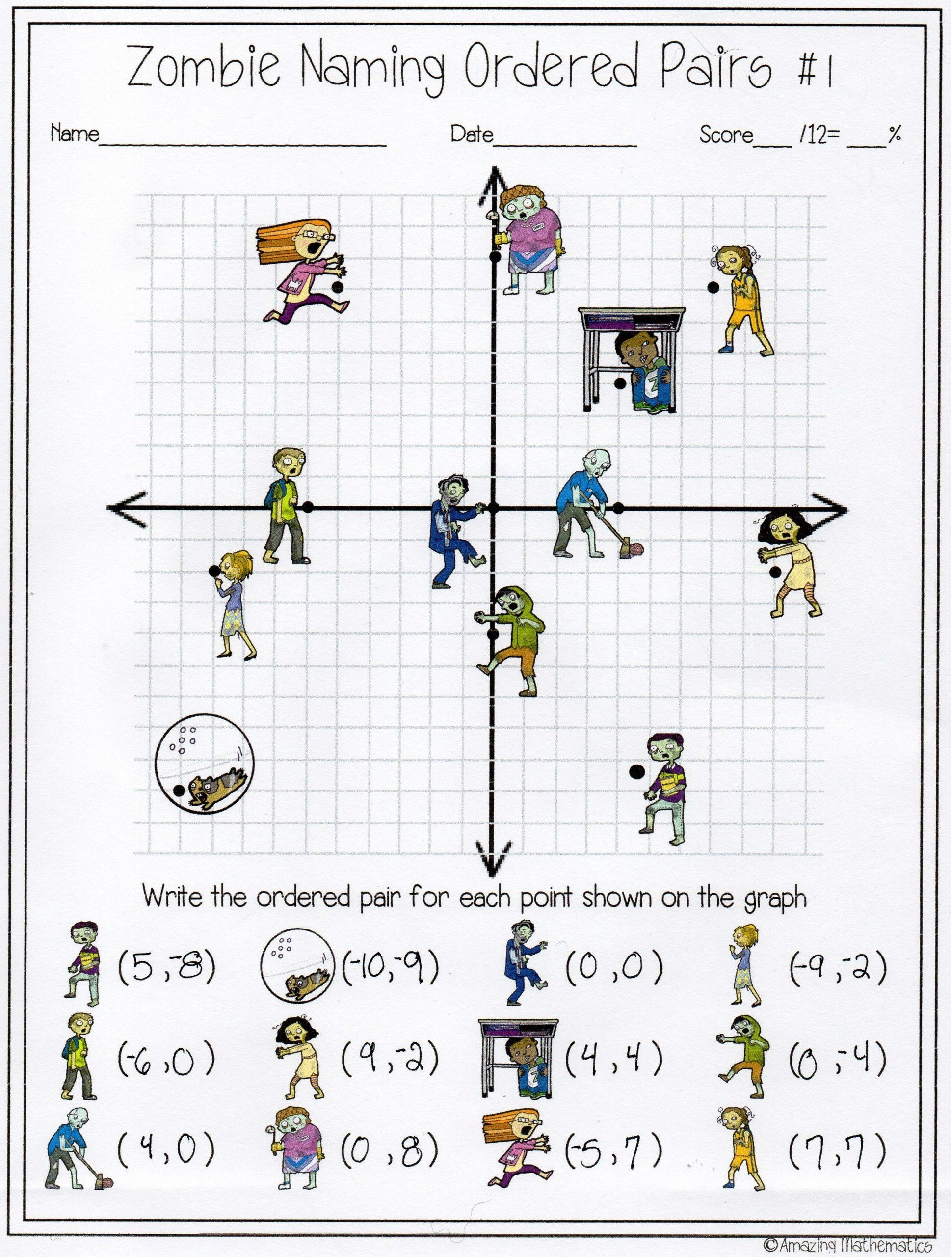 Distance And Midpoint Worksheet Answers Zombie Naming Ordered Pairs Worksheet In 2020 Coordinates Math Coordinate Graphing Learning Math
